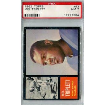 1962 Topps Football #93 Mel Triplett SP PSA 7 (NM) *1584