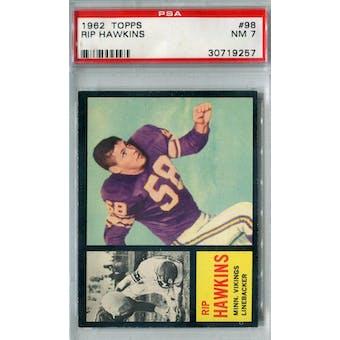 1962 Topps Football #98 Rip Hawkins SP PSA 7 (NM) *9257