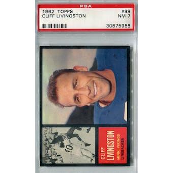 1962 Topps Football #99 Cliff Livingston SP PSA 7 (NM) *5968