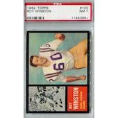 1962 Topps Football #100 Roy Winston SP PSA 7 (NM) *3667