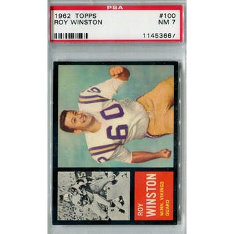 1962 Topps Football #100 Roy Winston SP PSA 7 (NM) *3667