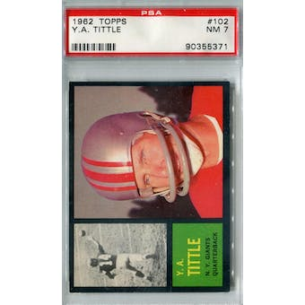1962 Topps Football #102 Y.A. Tittle PSA 7 (NM) *5371