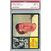 1962 Topps Football #104 Frank Gifford PSA 7 (NM) *0621