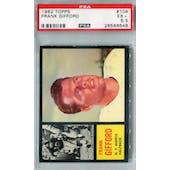 1962 Topps Football #104 Frank Gifford PSA 5.5 (EX+) *6648
