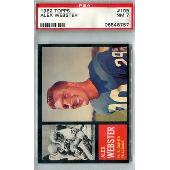 1962 Topps Football #105 Alex Webster PSA 7 (NM) *8757