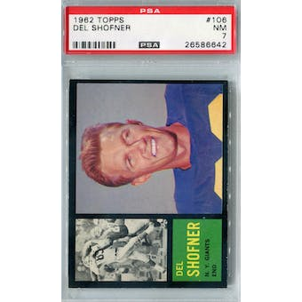 1962 Topps Football #106 Del Shofner PSA 7 (NM) *6642