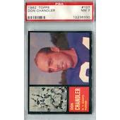 1962 Topps Football #107 Don Chandler PSA 7 (NM) *6330