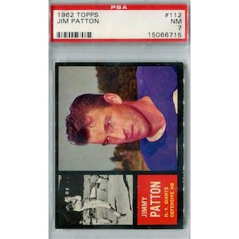 1962 Topps Football #112 Jim Patton PSA 7 (NM) *6715