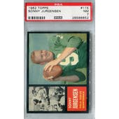 1962 Topps Football #115 Sonny Jurgensen PSA 7 (NM) *6652
