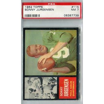 1962 Topps Football #115 Sonny Jurgensen PSA 7 (NM) *7739