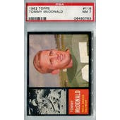 1962 Topps Football #116 Tommy McDonald PSA 7 (NM) *0783