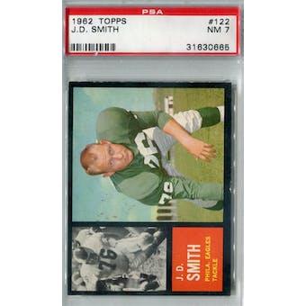 1962 Topps Football #122 J.D. Smith PSA 7 (NM) *0665