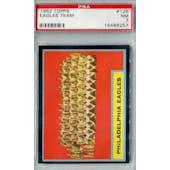 1962 Topps Football #126 Philadelphia Eagles PSA 7 (NM) *6257