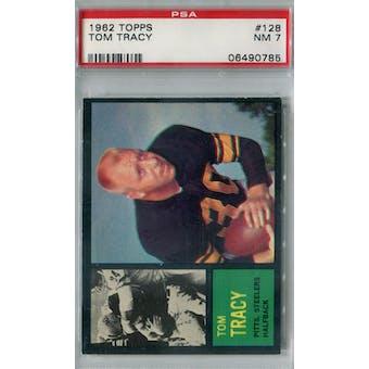1962 Topps Football #128 Tom Tracy PSA 7 (NM) *0785