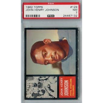 1962 Topps Football #129 John Henry Johnson PSA 7 (NM) *7132