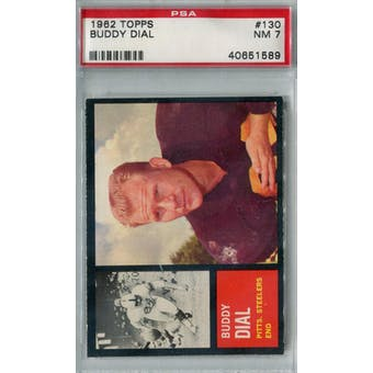 1962 Topps Football #130 Buddy Dial SP PSA 7 (NM) *1589