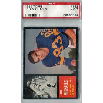 1962 Topps Football #132 Lou Michaels SP PSA 7 (NM) *3854