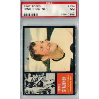 1962 Topps Football #134 Ernie Stautner SP PSA 7 (NM) *0896
