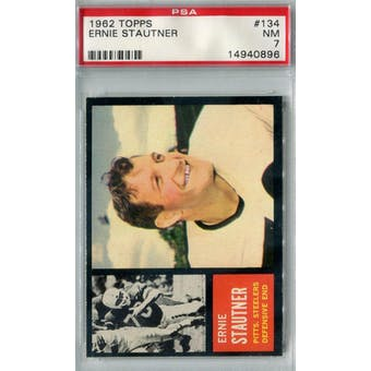 1962 Topps Football #134 Ernie Stautner SP PSA 7 (NM) *0896