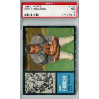 1962 Topps Football #137 Bob Ferguson SP PSA 7 (NM) *1676 (Reed Buy)