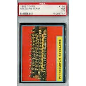 1962 Topps Football #138 Pittsburgh Steelers SP PSA 7 (NM) *6717