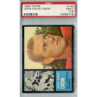 1962 Topps Football #140 John David Crow SP PSA 7.5 (NM+) *6718