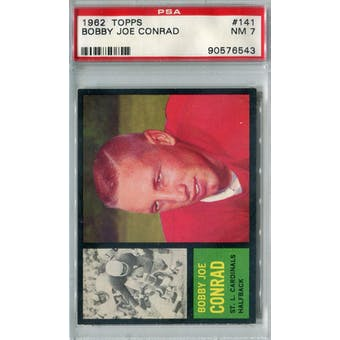 1962 Topps Football #141 Bobby Joe Conrad SP PSA 7 (NM) *6543