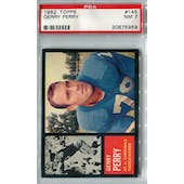 1962 Topps Football #145 Gerry Perry PSA 7 (NM) *5959