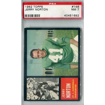 1962 Topps Football #146 Jerry Norton PSA 7 (NM) *1692