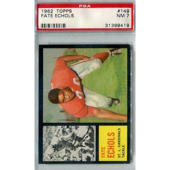 1962 Topps Football #149 Fate Echols SP PSA 7 (NM) *9419