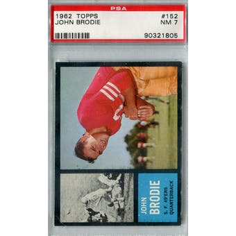 1962 Topps Football #152 John Brodie PSA 7 (NM) *1805