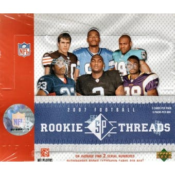 2007 Upper Deck SP Rookie Threads Football Hobby Box