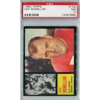 1962 Topps Football #159 Leo Nomellini PSA 7 (NM) *7895