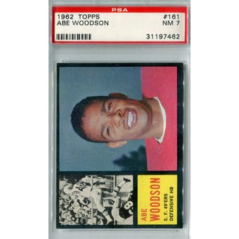 1962 Topps Football #161 Abe Woodson PSA 7 (NM) *7462