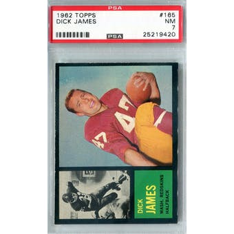 1962 Topps Football #165 Dick James PSA 7 (NM) *9420