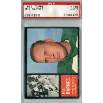 1962 Topps Football #168 Bill Barnes PSA 7 (NM) *9205