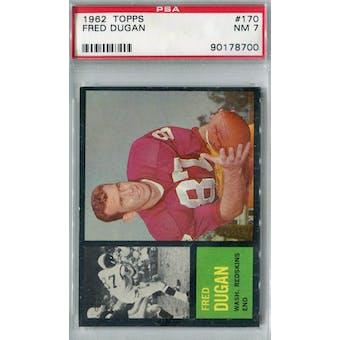 1962 Topps Football #170 Fred Dugan PSA 7 (NM) *8700