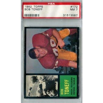 1962 Topps Football #172 Bob Toneff PSA 7 (NM) *3587