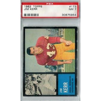 1962 Topps Football #173 Jim Kerr PSA 7 (NM) *5954