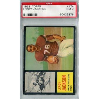 1962 Topps Football #174 Leroy Jackson SP PSA 7 (NM) *3375