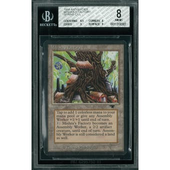 Magic the Gathering Antiquities Mishra's Factory (Spring) BGS 8 (8.5, 8, 9, 8)