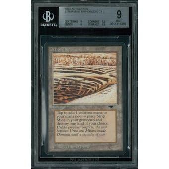 Magic the Gathering Antiquities Strip Mine (No Horizon) BGS 9 (9, 8.5, 9, 9.5)