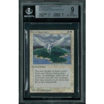 Magic the Gathering International Edition CE IE Island Sanctuary BGS 9 (9.5, 8.5, 9, 9)