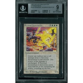 Magic the Gathering International Edition CE IE Personal Incarnation BGS 9 (9, 9, 9.5, 9)