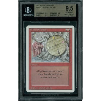 Magic the Gathering 3rd Ed Revised Wheel of Fortune BGS 9.5 (9.5, 9.5, 9.5, 9)