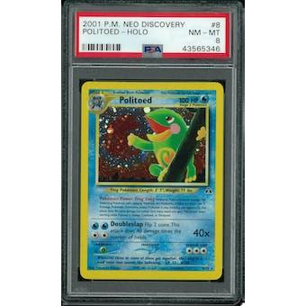 Pokemon Neo Discovery Politoed 8/75 PSA 8