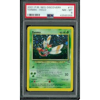 Pokemon Neo Discovery Yanma 17/75 PSA 8