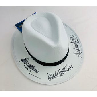 Sopranos Triple Signed by Furio, Ade, Janice Autographed Hat (DACW COA)