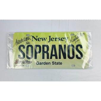 Sopranos Triple Signed by Furio, Ade, Janice Autographed License Plate (DA COA)