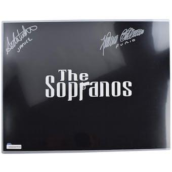 Sopranos Dual Signed Furio, Janice Autographed 16x20 Title Photo (DA COA)
